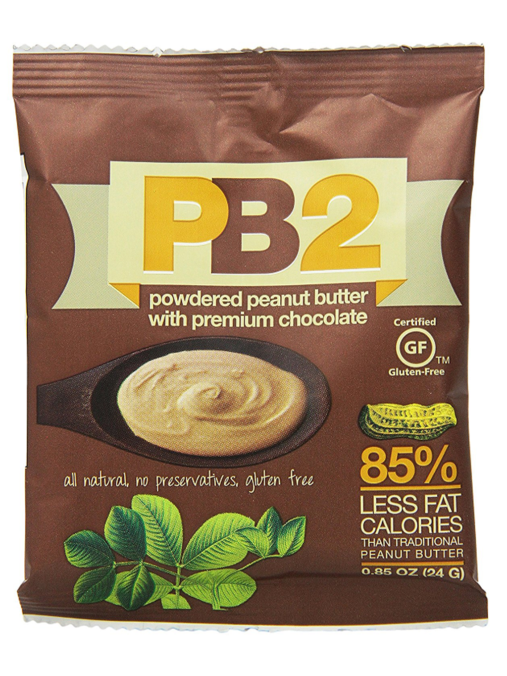 Bell Plantation PB2 Powdered Peanut Butter with Chocolate, Single Serve Pack - 0.85 oz.png