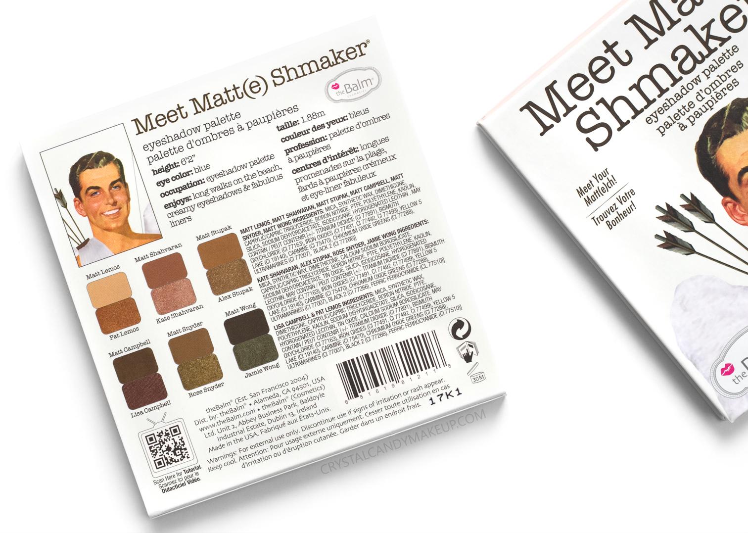 Thebalm-Meet-Matte-Shmaker-Eyeshadow-Palette-Ingredients