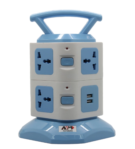 ABM 8 Way Vertical Tower Socket with 2 USB Port.PNG