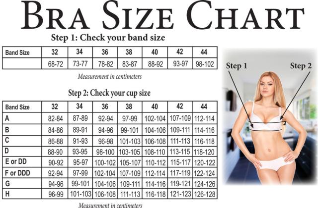 female breast size chart: Size chart your s secret female concept store