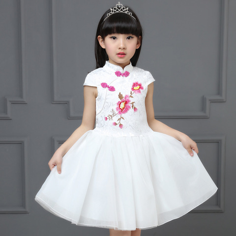 B-29 FSO00166W Pink Flower White Dress.jpg