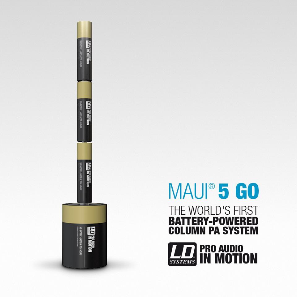 ld systems maui 5 go rechargeable battery powered compact plug and play column system lachmi. Black Bedroom Furniture Sets. Home Design Ideas