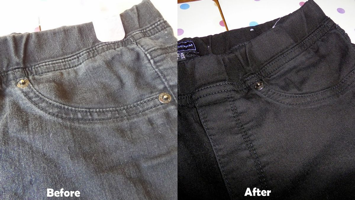 Revived faded jeans with Dylon Wash & Dye