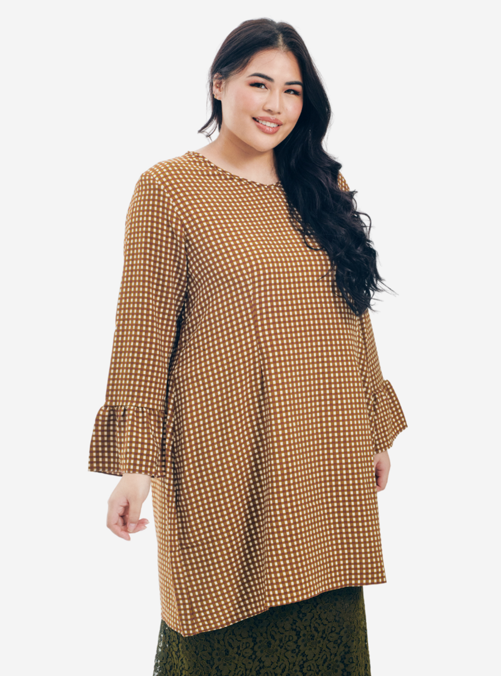 Copy of Description Long Sleeve Asymetrical Puff Sleeve Stretchable - Very Sheer - No - Ribbed Cotton - Long Skirt  Ukur lilit pada punggung (Hip) boleh stretch up to 3 to 6 (18).png
