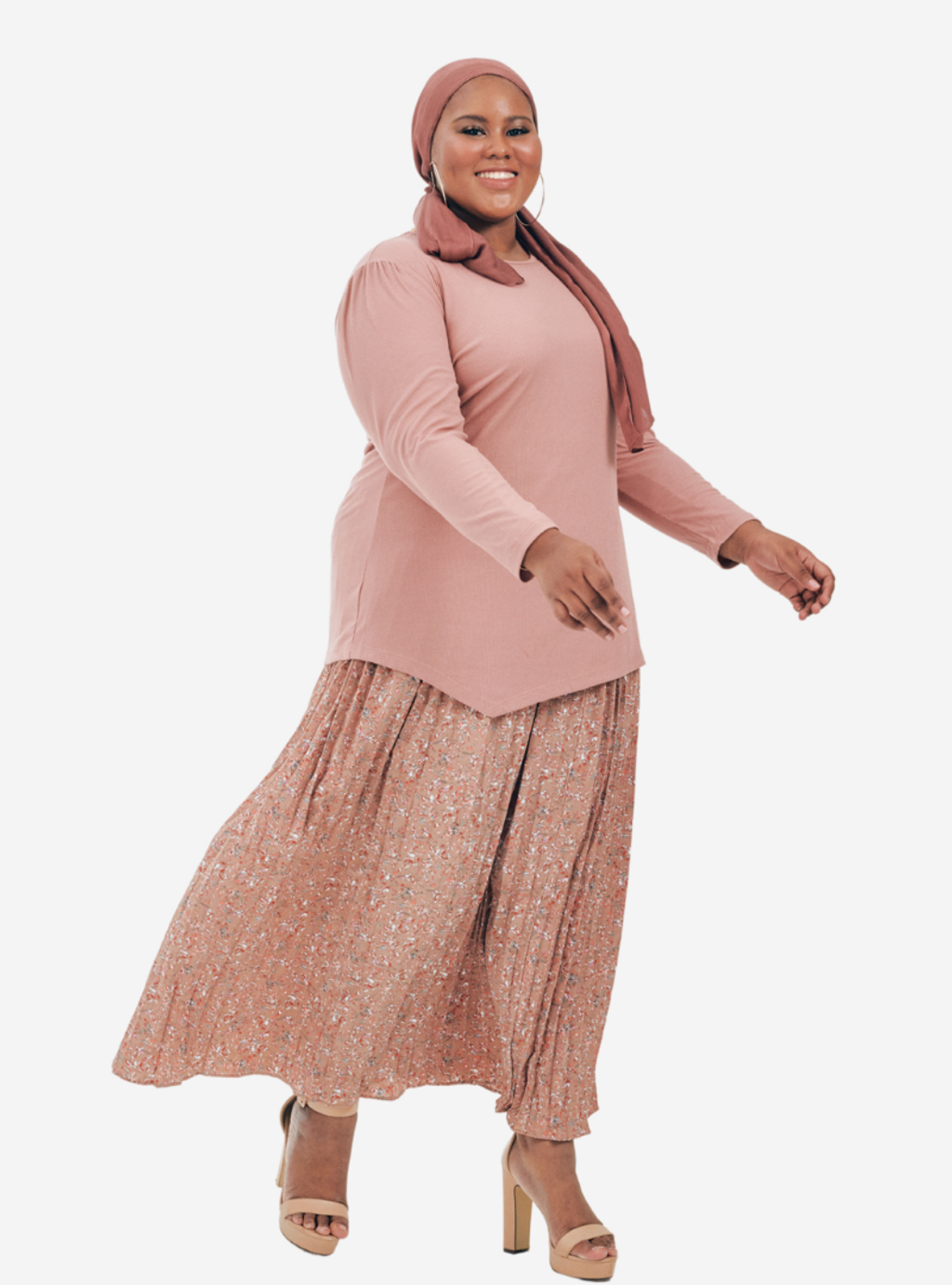 Copy of Description Long Sleeve Asymetrical Puff Sleeve Stretchable - Very Sheer - No - Ribbed Cotton - Long Skirt  Ukur lilit pada punggung (Hip) boleh stretch up to 3 to 6 (17).png