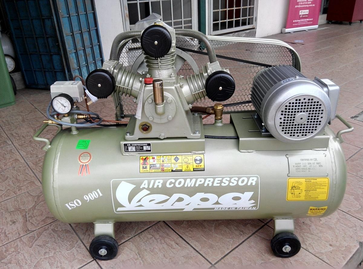 Vespa 2 0hp 3w Cylinder 95l Single Stage Air Compressor