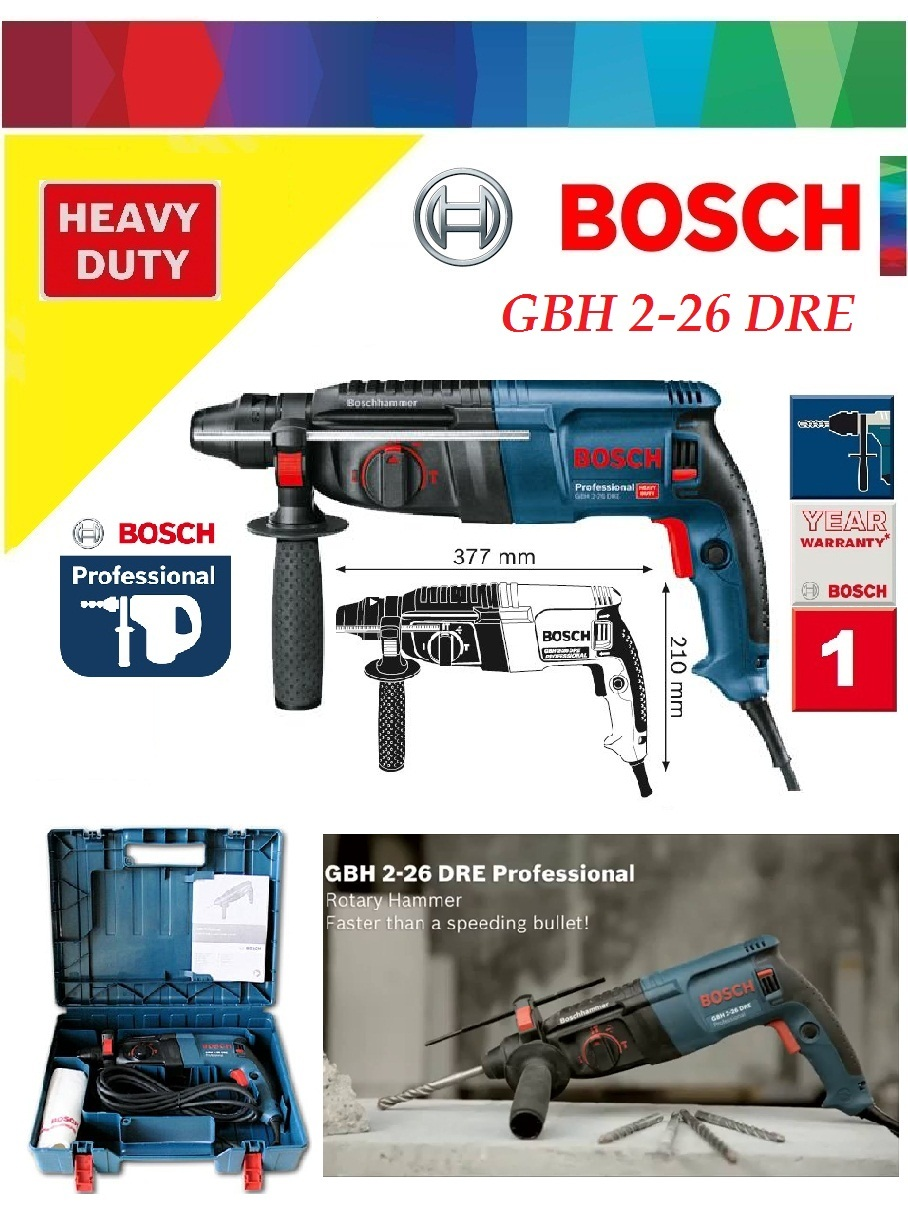 Summary Bosch Gbh 226 Dre Professional Rotary Hammer With Sds Bor 3 28