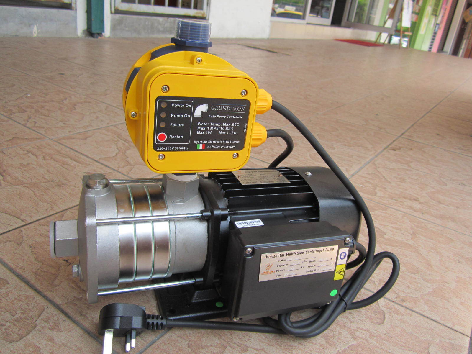 Unoflow 0 75hp Stainless Steel Multi Stage Booster Pump