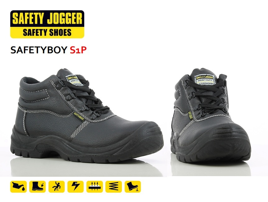 ee224afee55 Safety Jogger Black Classic Safety Shoe (SafetyBoy)