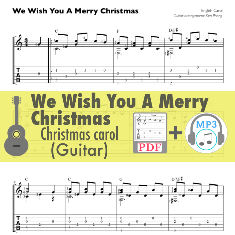 We Wish You A Merry Christmas Song.We Wish You A Merry Christmas Guitar
