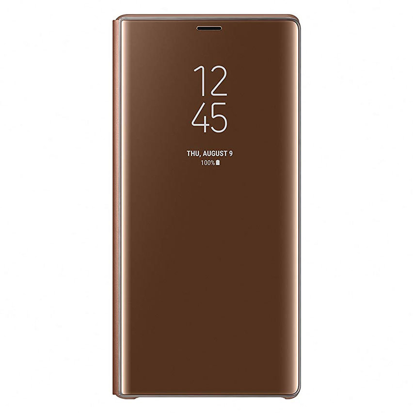Official Samsung Galaxy Note 9 Clear View Standing Case - Brown