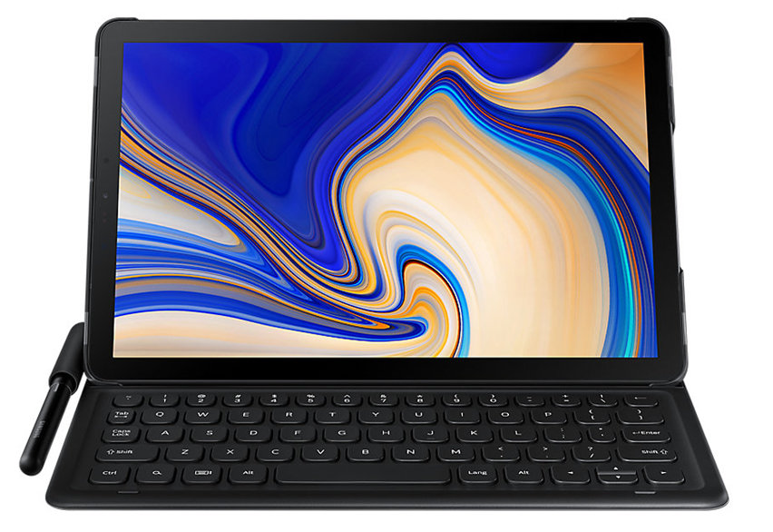 Official Samsung Galaxy Tab S4 Keyboard Cover Case - Black