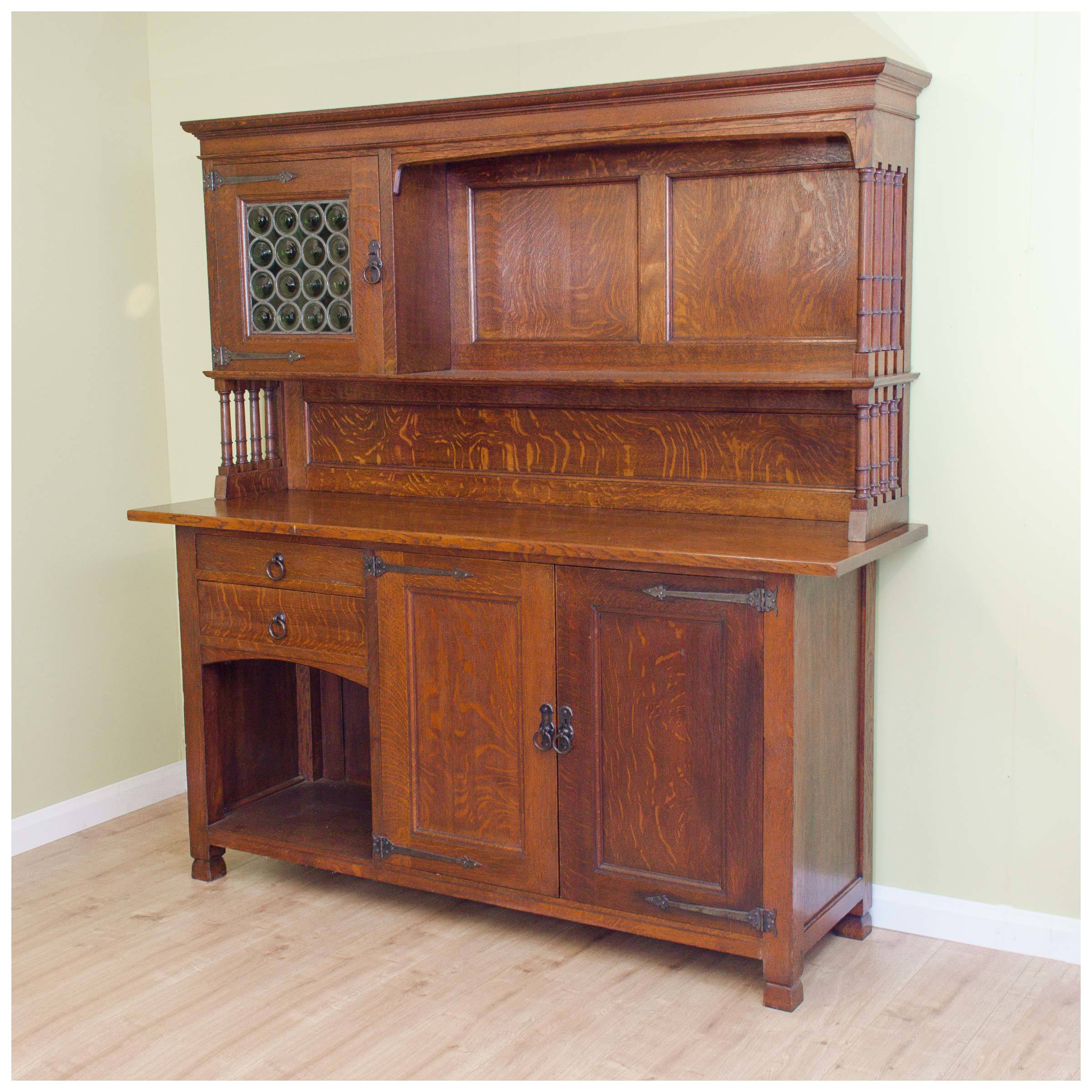 arts and crafts dresser liberty amp co antique arts crafts oak lochleven sideboard c 3371