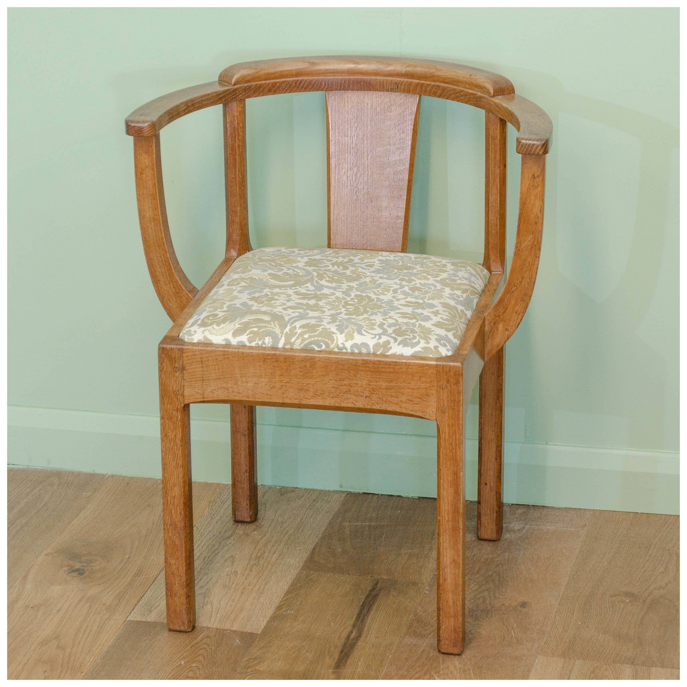 An Arts Amp Crafts English Oak Armchair Tub Chair By Stanley