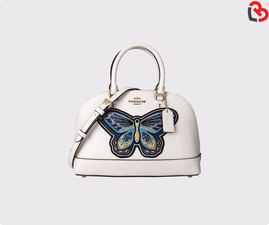 abc14c55a985 COACH Mini Sierra Satchel With Butterfly Embroidery (F24610) Chalk ...