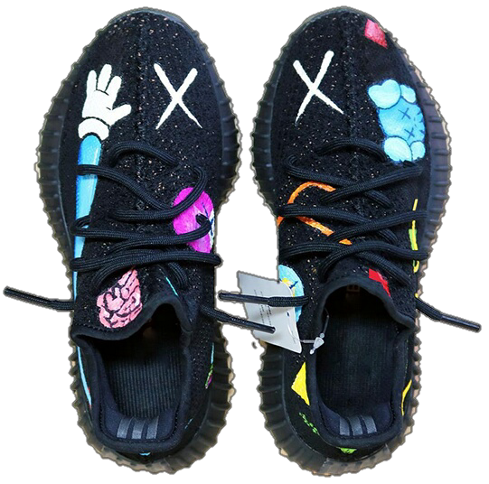 Indie Designs Custom Made Kaws X Yeezy 350 V2 Indie