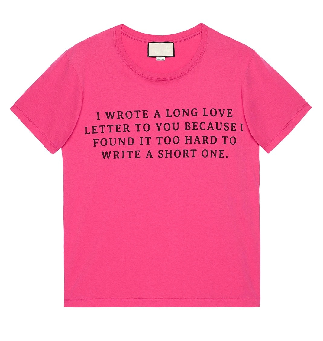 Indie Designs Love Letter Print T Shirt Indie Designs Clothing