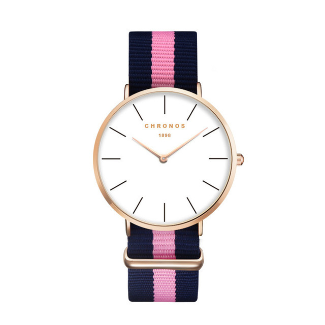 Minimal Chronos Nylon Watches Pink Blue Gold.jpg