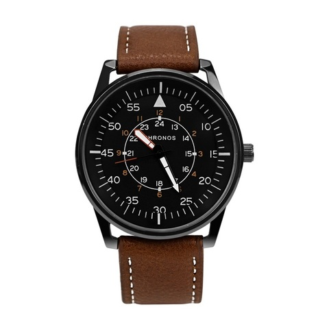 Pilot Chronos Leather Watches Brown (2).jpg