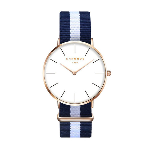 Minimal Chronos Nylon Watches White Blue Gold.jpg