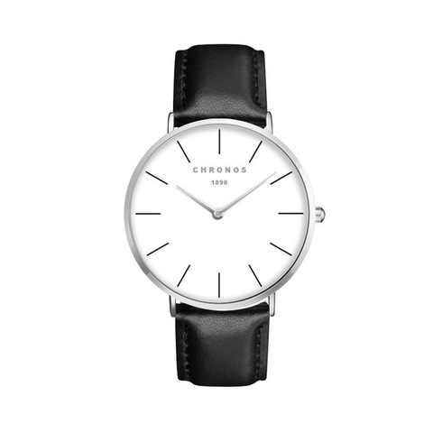 Minimal Chronos Black Leather Watches Sliver.jpg