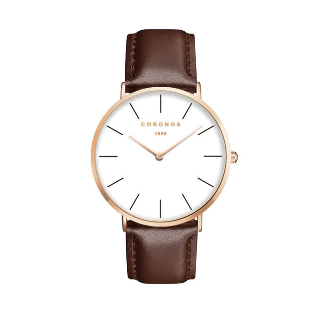 Minimal Chronos Brown Leather Watches Gold.jpg
