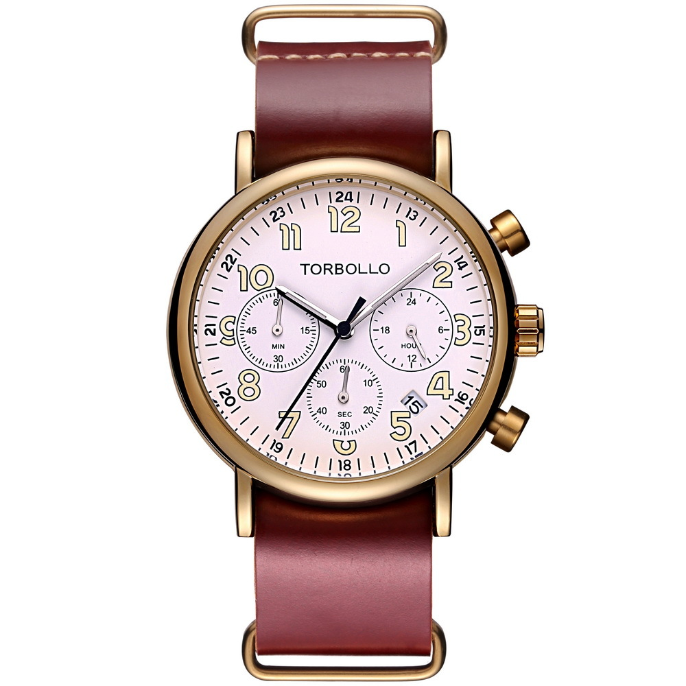 Herren Torbollo 3 Dial Watches Red White (1).jpg