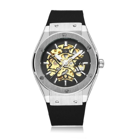 Mechano Mechanical  Watches Sliver Black.jpg