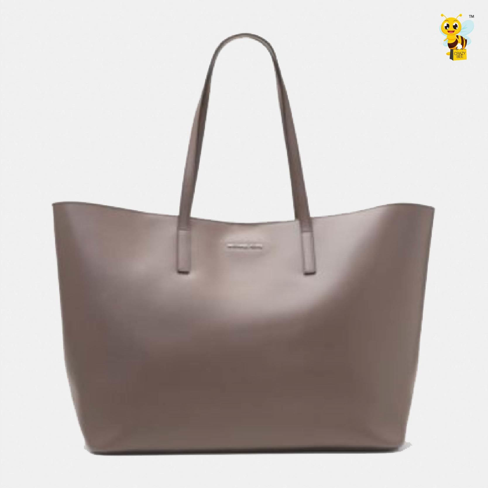 b490d7007382 MICHAEL KORS Emry Extra-Large Leather Tote (Cinder) – CrazyBee