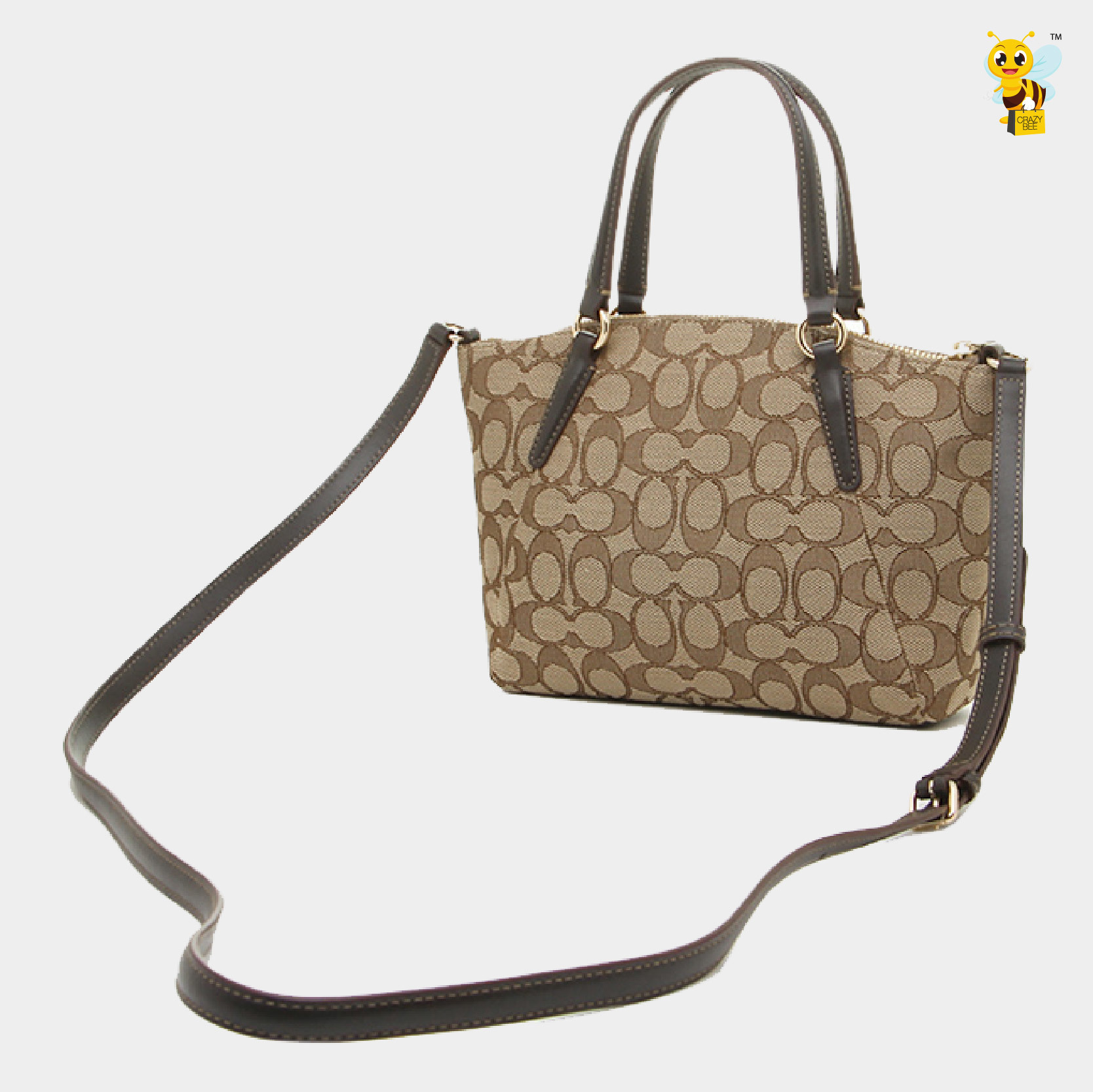 6e76728b0200 ... coupon code for coach f57830 mini kelsey satchel in outline signature  brown 9b3b5 d90b9 ...