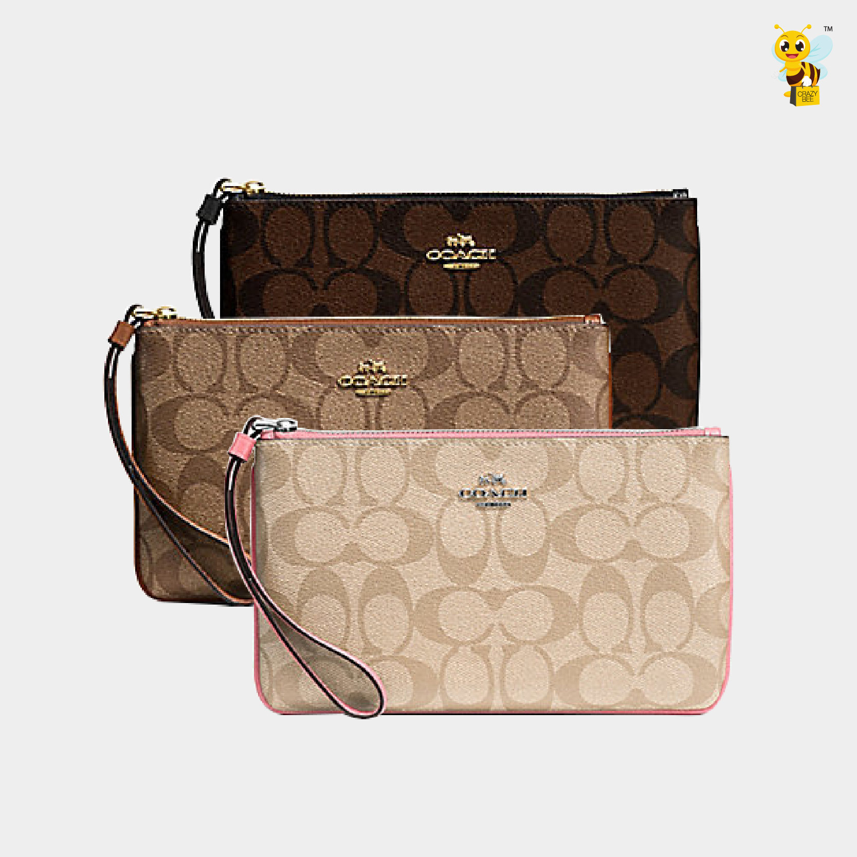d8d12ddf0aac ... where can i buy coach pre order f58695 large wristlet in signature  coated canvas 56f6f a71af