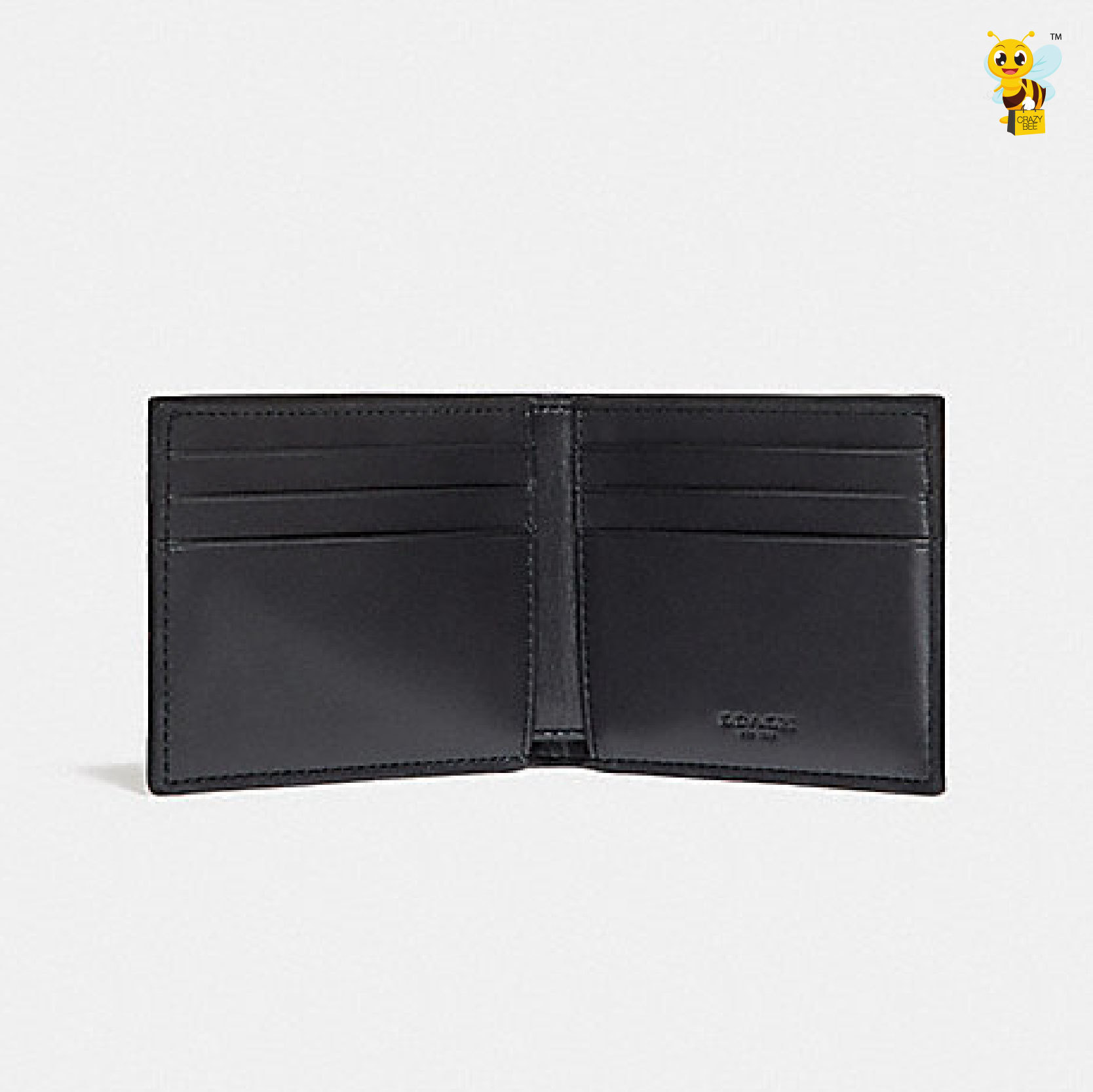 8ede24be8b5d ... closeout coach f26173 slim billfold wallet in signature canvas with varsity  stripe denim chalk 728eb a90f2