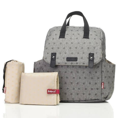 Babymel%20Robyn%20Convertible%20Backpack%20Grey-700x700