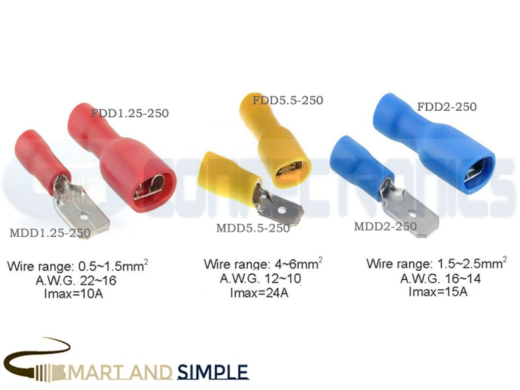 Spade Terminals Female and Male Connector Crimp, Quick Disconnect Terminal copy.jpg