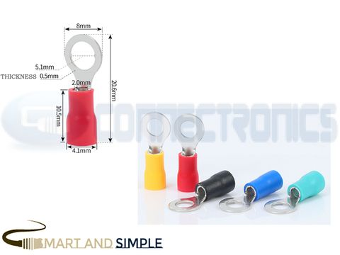 Ring Terminals Crimp Connector Ring Tongue Terminal 22-16AWG 0.5-1.5mm2 SS-RV1.25-5S  for M5 screw copy.jpg