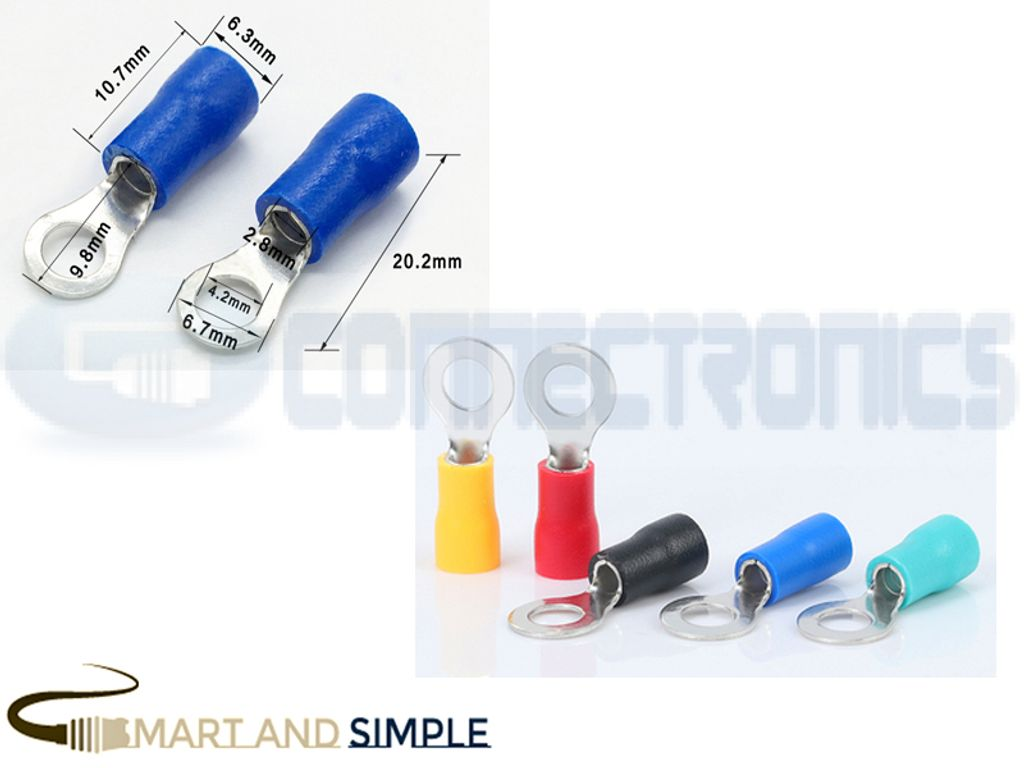 Ring Terminals Crimp Connector Ring Tongue Terminal 16-14AWG 1.5-2.5mm2 SS-RV2-4S  for M4 screw copy.jpg