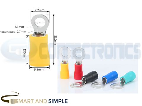 Ring Terminals Crimp Connector Ring Tongue Terminal 12-10AWG 4.0-6.0mm2 SS-RV5.5-4  for M4 screw copy.jpg