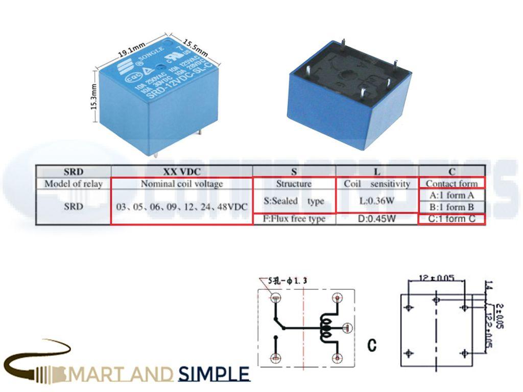 SPDT Relay SRD  DC 10A 5 PINS copy.jpg