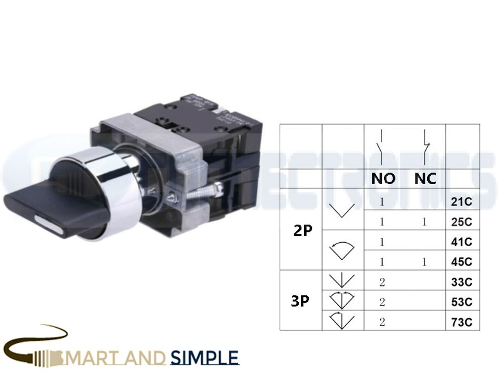 22mm 3 Position 2NO Selector Switch SS-33C copy.jpg
