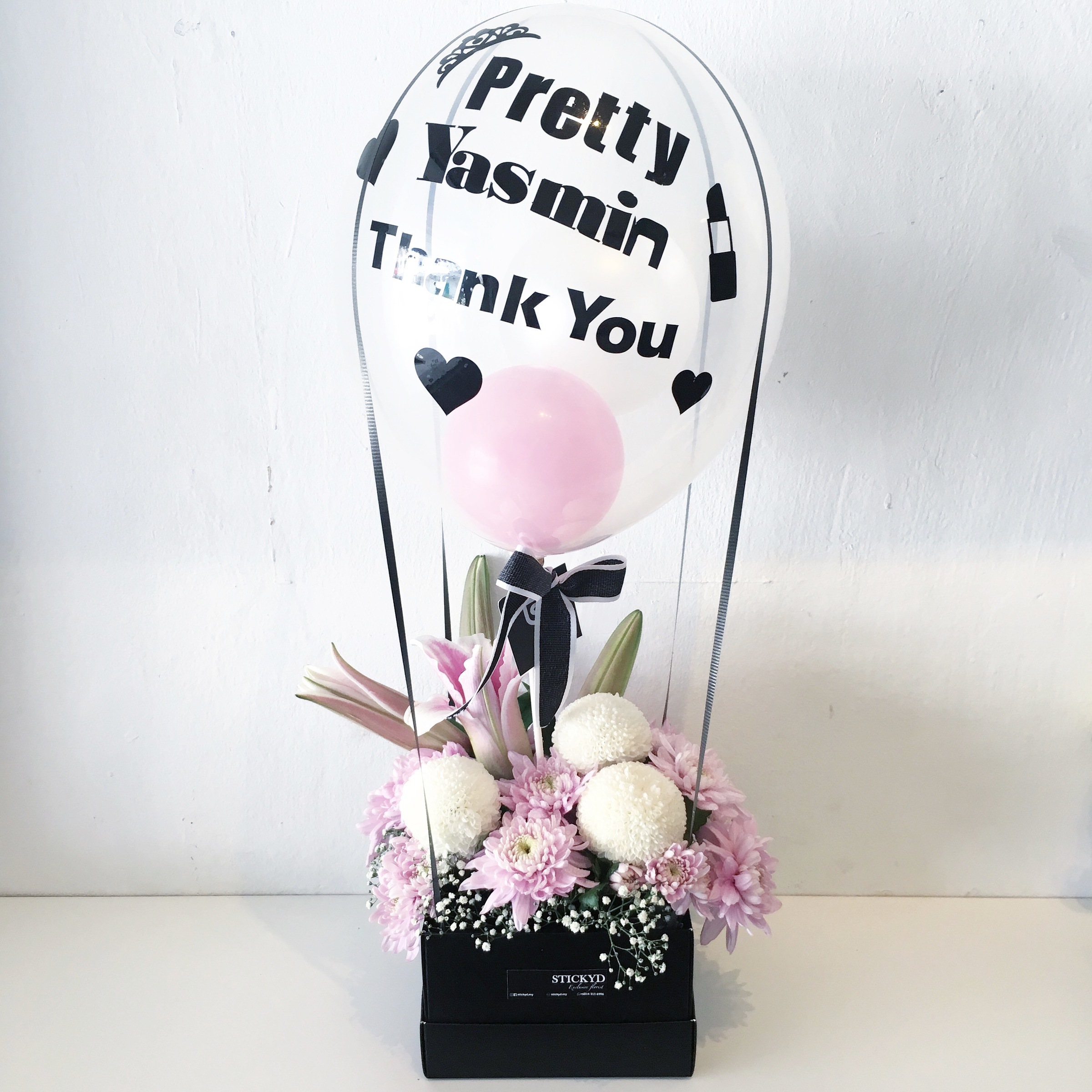 Flowers in the air s flowers healthy regular hot air balloon with lily flowers stickyd my izmirmasajfo