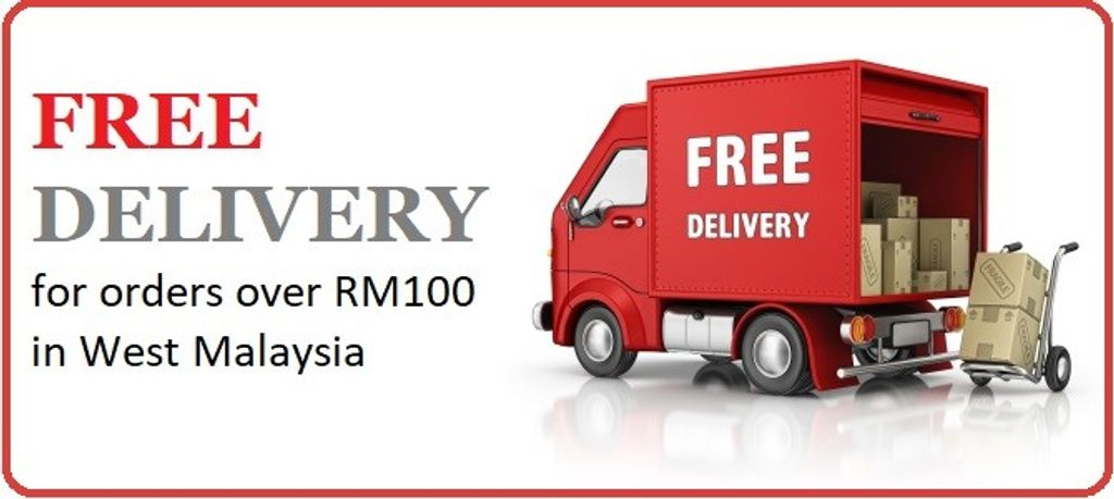 Free Delivery For Orders Over RM100 In West Malaysia