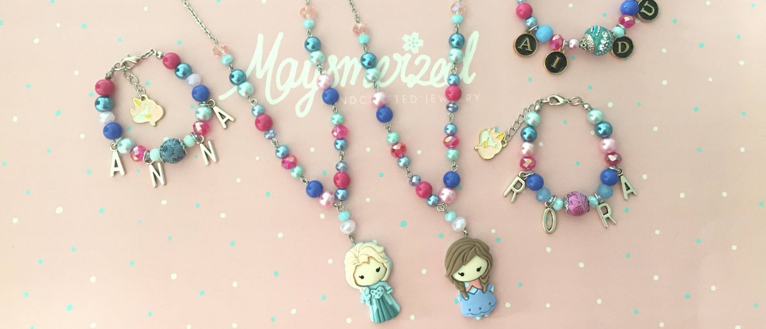 Maysmerized | Lovely Handmade Bracelets, Necklaces, Earrings, Gifts from Malaysia - Frozen Sisters Matching Bracelet & Necklace Set