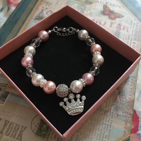 Crown Queen Charm Bracelet.JPG