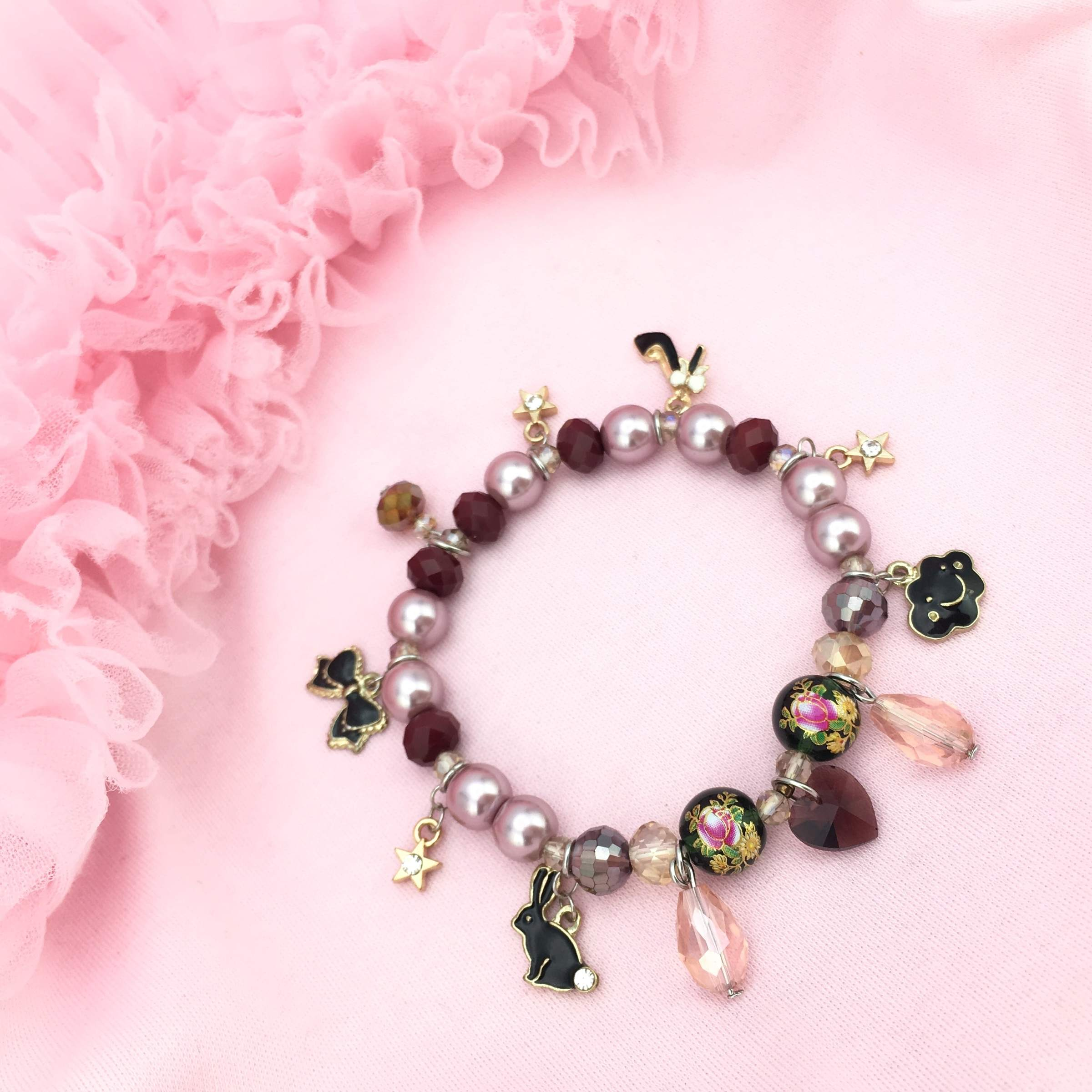 Whimsical style Delilah Charm Bracelet with Adorable Charms
