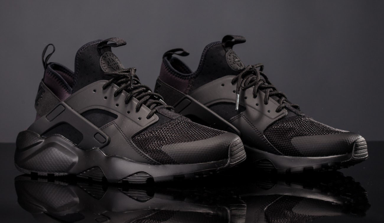 nike men's air huarache ultra triple black