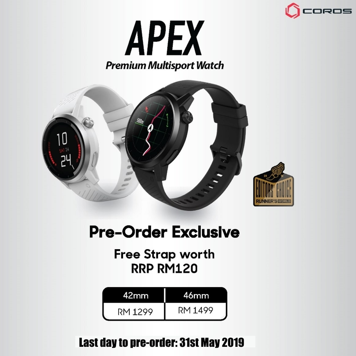 Pre-order Apex and get free strap