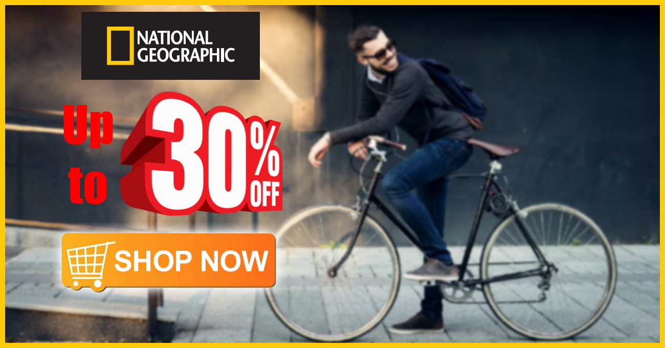 National Geographic Bags up to 30% Off