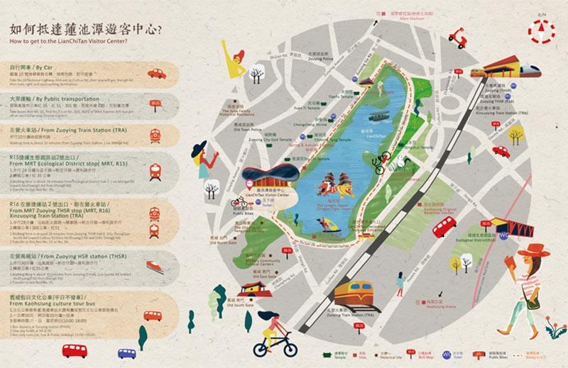 高雄蓮池潭觀光旅遊地圖