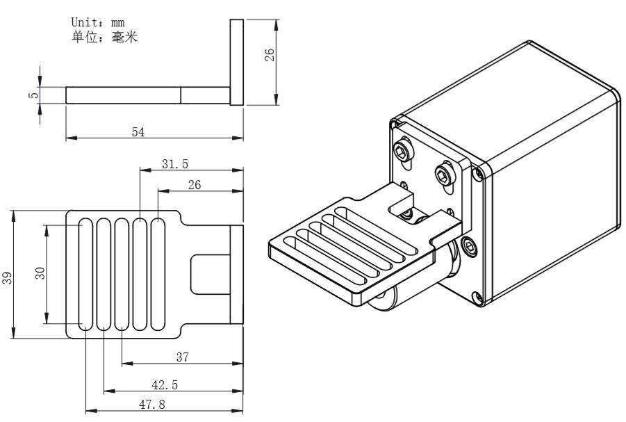 Connecting-bracket for Takahashi Scope