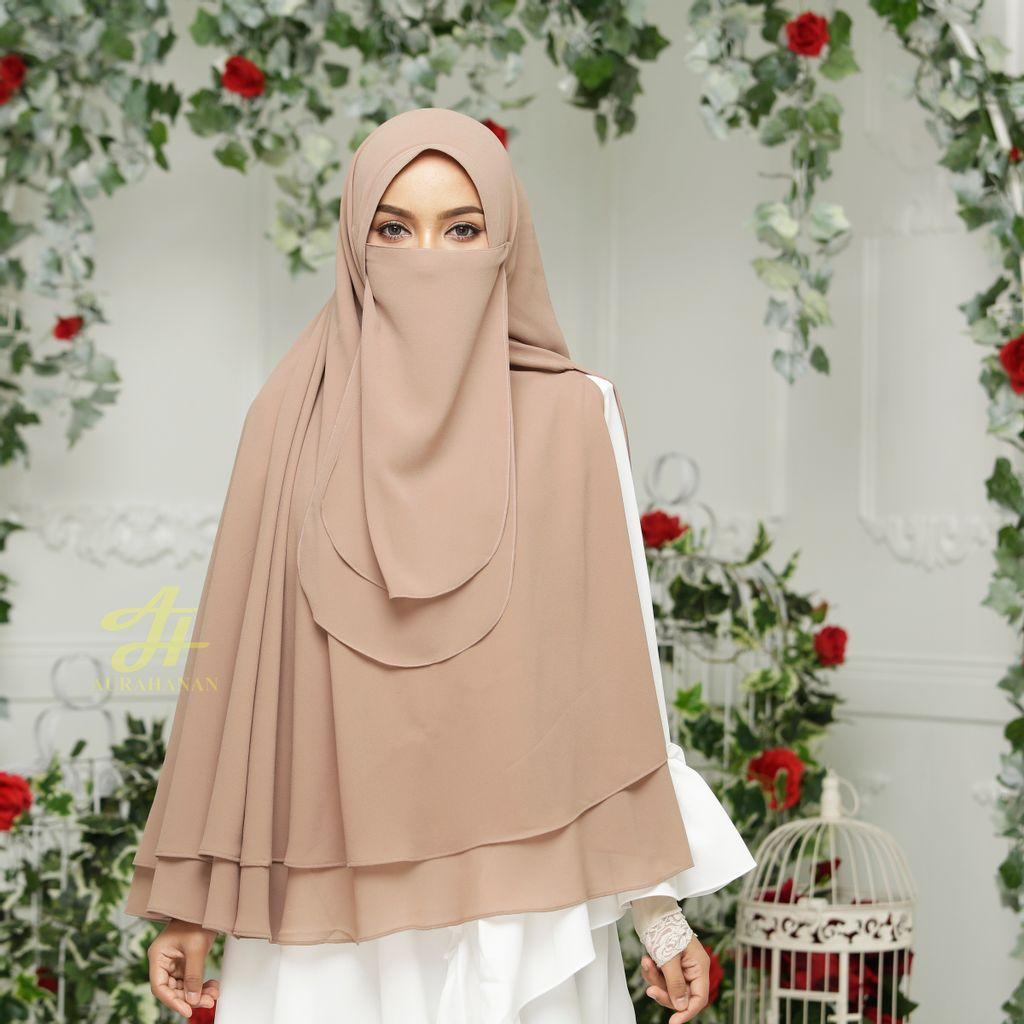 Khimar Niqab Sophea Basic - Hazelnut Caramel - KSB03-05.jpg